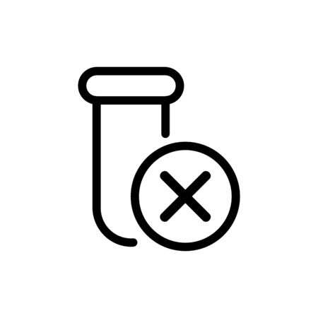 There is no drug vector icon. Thin line sign. Isolated contour symbol illustration