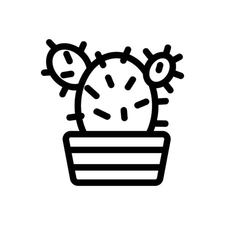 Cactus icon vector. Thin line sign. Isolated contour symbol illustration 일러스트