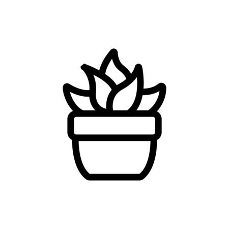 Cactus icon vector. Thin line sign. Isolated contour symbol illustration Ilustração