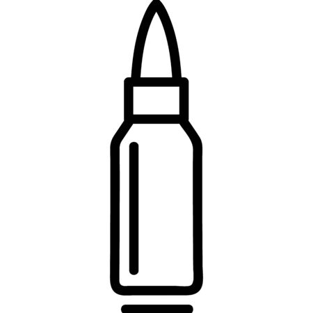 bullet icon vector. Thin line sign. Isolated contour symbol illustration 向量圖像