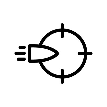 bullet icon vector. Thin line sign. Isolated contour symbol illustration Ilustração