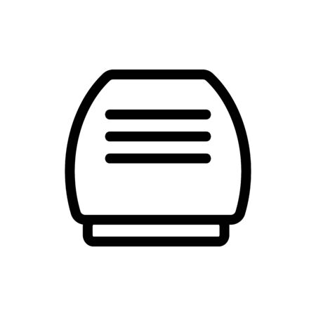 air purifier icon vector. Thin line sign. Isolated contour symbol illustration