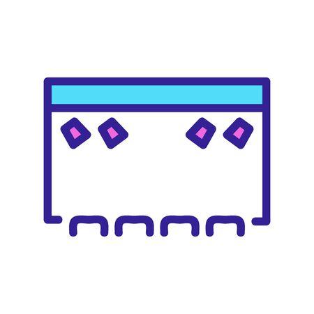 scene icon vector. Thin line sign. Isolated contour symbol illustration Ilustrace