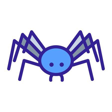 Spinne Symbol Vektor. Dünne Linie Zeichen. Isolierte Kontursymbolillustration