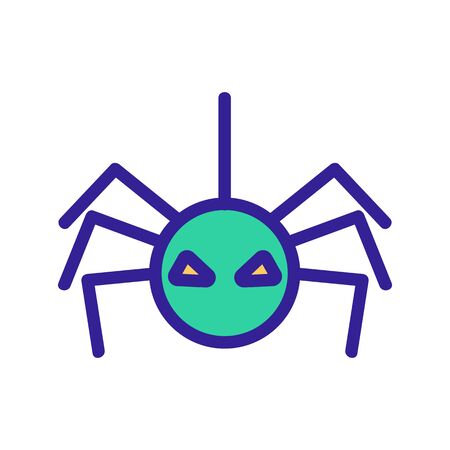 Spider icon vector. Thin line sign. Isolated contour symbol illustration