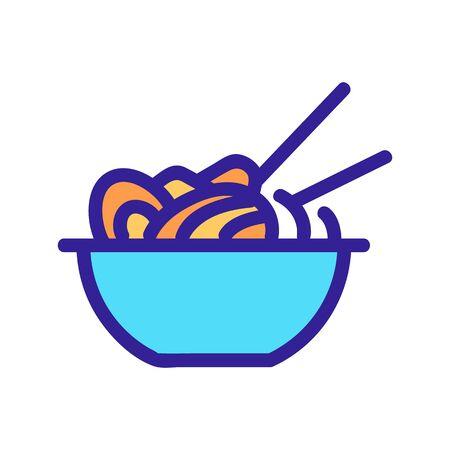 Ramen icon vector. Thin line sign. Isolated contour symbol illustration