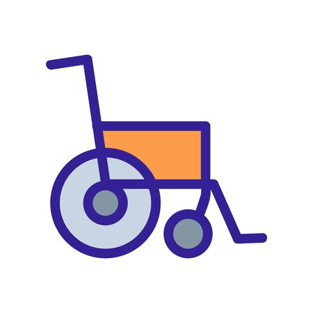 wheelchair icon vector. Thin line sign. Isolated contour symbol illustration