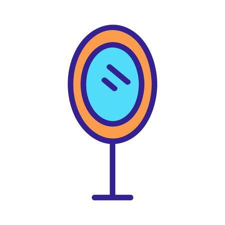 Mirror icon vector. Thin line sign. Isolated contour symbol illustration