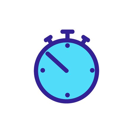 stopwatch icon vector. Thin line sign. Isolated contour symbol illustration