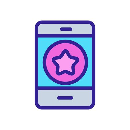 Star phone icon vector. Thin line sign. Isolated contour symbol illustration Ilustrace