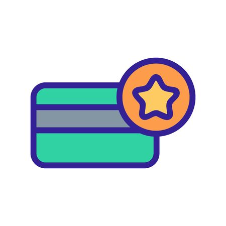 Star card icon vector. Thin line sign. Isolated contour symbol illustration