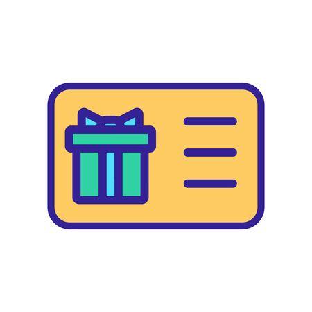 Gift bonus icon vector. Thin line sign. Isolated contour symbol illustration