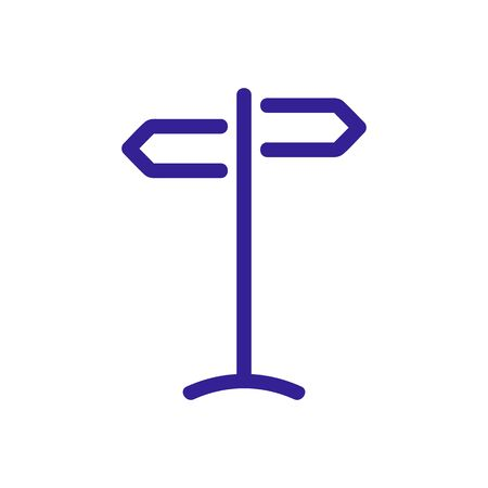 Pointer direction icon vector. Thin line sign. Isolated contour symbol illustration Ilustrace