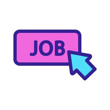 work cursor icon vector. Thin line sign. Isolated contour symbol illustration Ilustrace