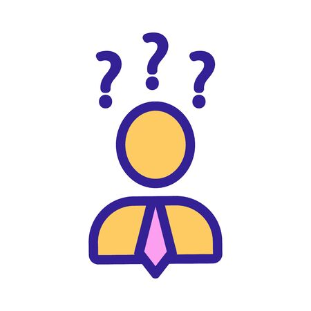 Job search vector icon. Thin line sign. Isolated contour symbol illustration