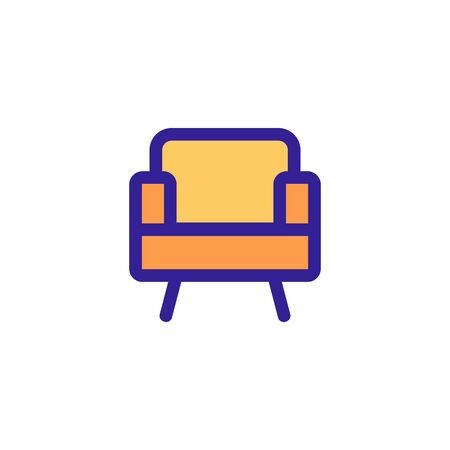 Chair icon vector. Thin line sign. Isolated contour symbol illustration