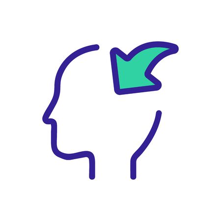 consciousness icon vector. Thin line sign. Isolated contour symbol illustration