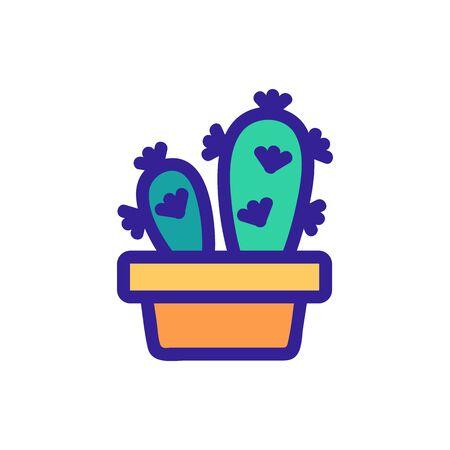 Cactus icon vector. Thin line sign. Isolated contour symbol illustration Illustration
