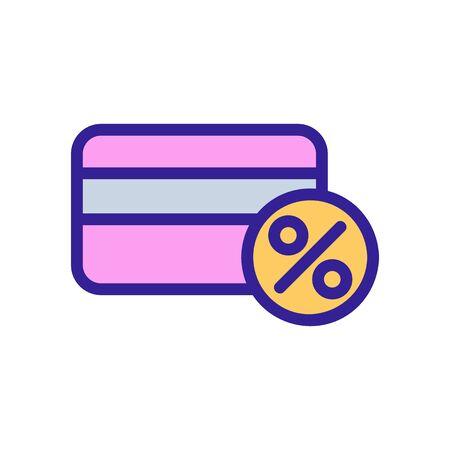 Bonus card icon vector. Thin line sign. Isolated contour symbol illustration