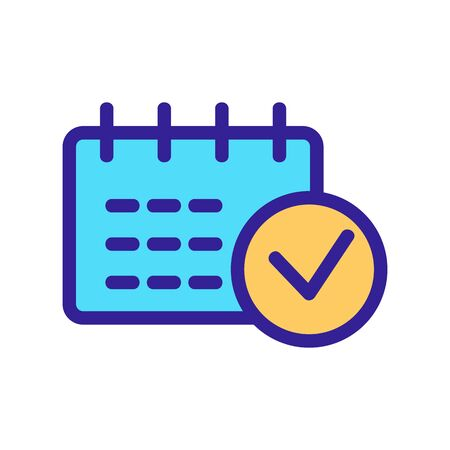 Calendar is an important vector icon. Thin line sign. Isolated contour symbol illustration