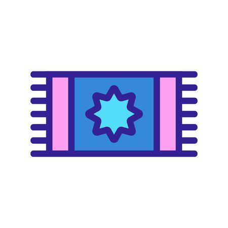 carpet prayer icon vector. Thin line sign. Isolated contour symbol illustration