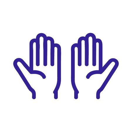 Prayer icon vector. Thin line sign. Isolated contour symbol illustration