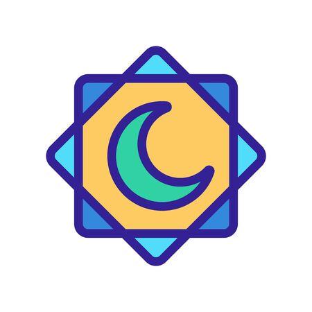 Ramadan icon vector. Thin line sign. Isolated contour symbol illustration