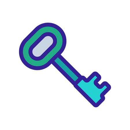 key icon vector. Thin line sign. Isolated contour symbol illustration