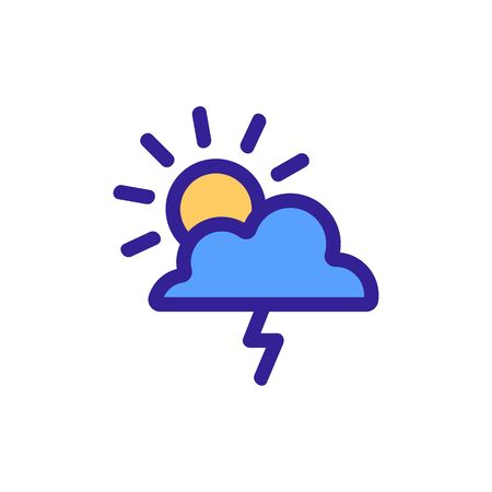 Lightning Storm Hurricane Icon Vector. Thin line sign. Isolated contour symbol illustration