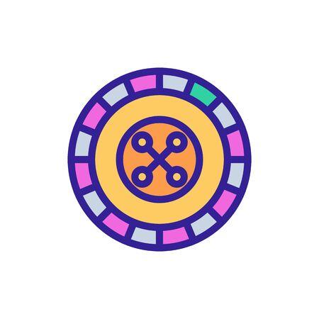 Roulette casino icon vector. Thin line sign. Isolated contour symbol illustration Illustration