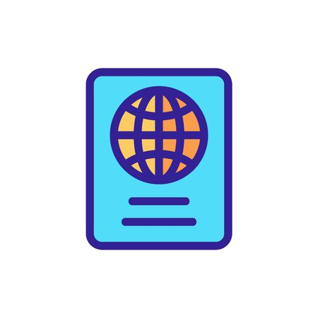 Passport icon vector. Thin line sign. Isolated contour symbol illustration Vectores