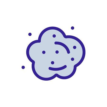 Vector icono de polvo. Signo de línea delgada. Ilustración de símbolo de contorno aislado