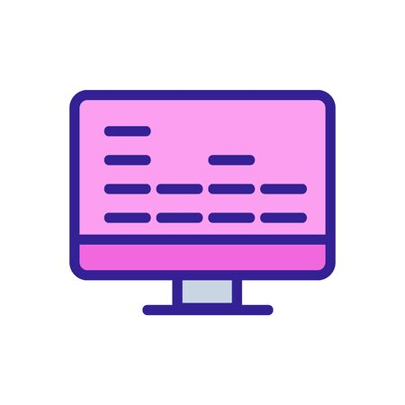 equalizer monitor icon vector. Thin line sign. Isolated contour symbol illustration