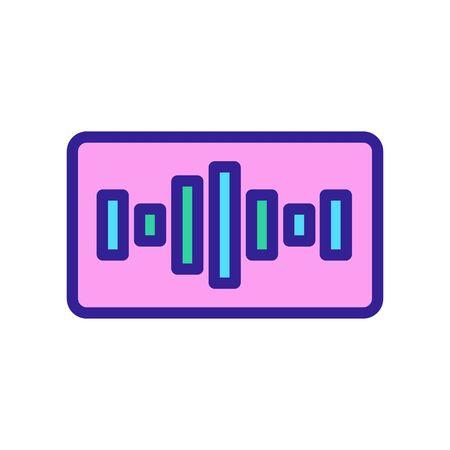 equalizer music icon vector. Thin line sign. Isolated contour symbol illustration Illusztráció