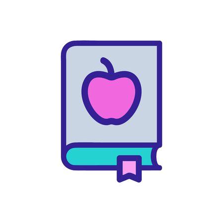 Health recipe icon vector. Thin line sign. Isolated contour symbol illustration