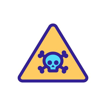 sign of defeat by the current icon vector. Thin line sign. Isolated contour symbol illustration