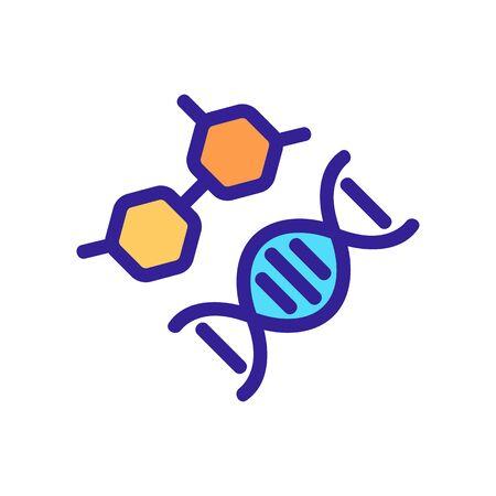 DNA-Struktur-Symbol-Vektor. Dünne Linie Zeichen. Isolierte Kontursymbolillustration Vektorgrafik