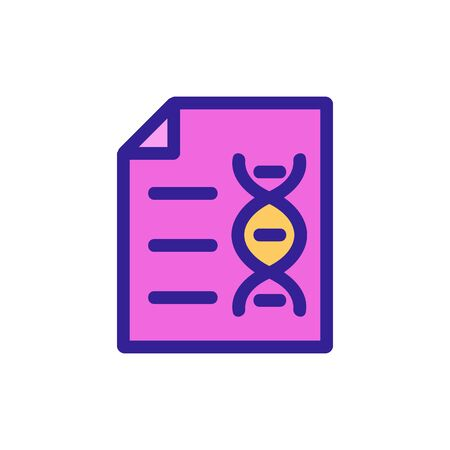 dna document icon vector. Thin line sign. Isolated contour symbol illustration Vectores