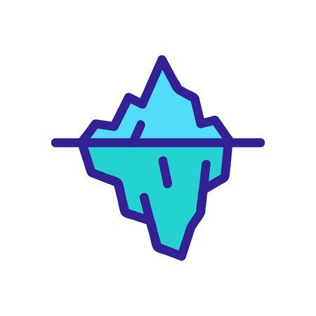 iceberg icon vector. Thin line sign. Isolated contour symbol illustration