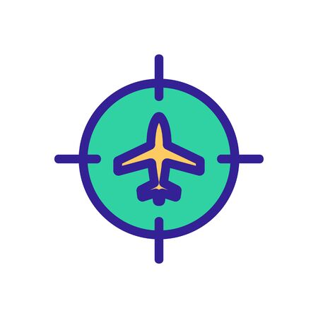 Plane sight icon vector. Thin line sign. Isolated contour symbol illustration