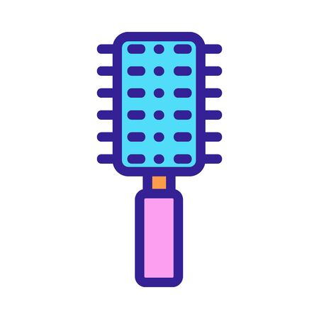 comb icon vector. Thin line sign. Isolated contour symbol illustration