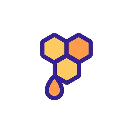 Honey is a honey icon vector. Thin line sign. Isolated contour symbol illustration