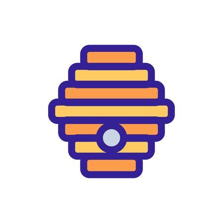 Honey hive icon vector. Thin line sign. Isolated contour symbol illustration Ilustração