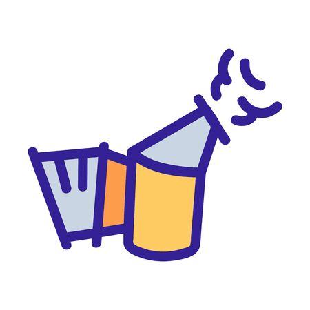 Honey smoke icon vector. Thin line sign. Isolated contour symbol illustration