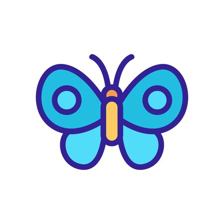Butterfly icon vector. Thin line sign. Isolated contour symbol illustration