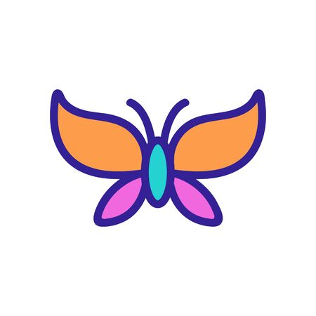 Butterfly icon vector. Thin line sign. Isolated contour symbol illustration Stockfoto - 139678877