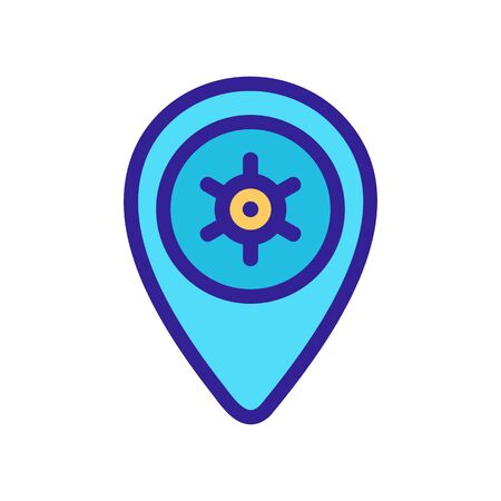 Location icon vector. Thin line sign. Isolated contour symbol illustration