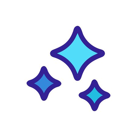 Star shining glitter icon vector. Thin line sign. Isolated contour symbol illustration 일러스트
