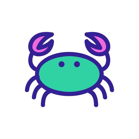 Crab icon vector. Thin line sign. Isolated contour symbol illustration