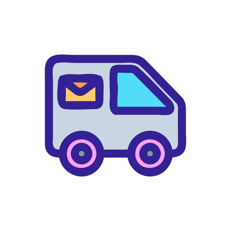 Mail machine icon vector. Thin line sign. Isolated contour symbol illustration